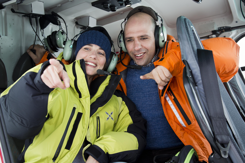 Zalone e Giovanardi elicottero@MaurizioRaspante