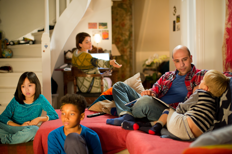 Zalone salotto famiglia Giovanardi @MaurizioRaspante